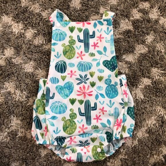 85e302ec4c1f Baby girl cactus romper. Size 6 12 mos. nwot. M 5b4a58f6819e907143d815a5